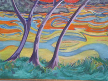 Hudson Sunset 1998 oil  46 x 38