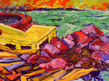 The Narrows 1996 oil 32x46